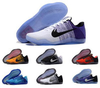 Wholesale Men Shoes Low Cut Boots - 2016 Kobe XI Elite Low Basketball Shoes Men 100% Original New Arrival Sneakers Cheap Retro Weaving Kobe 11 Sport Boots Size Eur 40-46