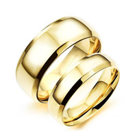 Casal simples banhado a ouro Rings Casual 316L Stainless Full Steel Mulheres Men Sports Jóias Ring Lovers Rings 2 Piece Price