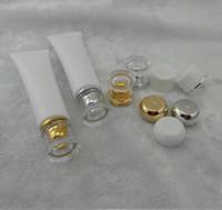 косметические лосьоны оптовых-100 г прозрачный пластиковый лосьон мягкие трубки бутылки матовый образец контейнера пустой косметический макияж крем контейнер