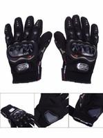 Wholesale moto resale online - Promotion Professional sport motorcycle gloves Full Finger Protective Gear Black Carbon Fiber moto motocicleta guantes