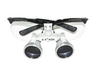 Wholesale Binocular Case - New Arrival New Black Dentist Dental Surgical Medical Binocular Loupes 2.5X 420mm Optical Glass Loupe+Handy Protective Carry Case