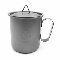 Wholesale Titanium Camping Mug - Boundless Voyage 420ml Titanium Cup Outdoor Ultralight Mug With Cup Cover Camping Portable Water Cup Ti1554B