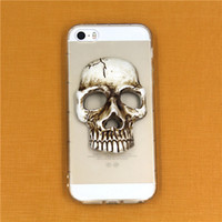 Wholesale Universal Resin - Universal Creative 3D Resin Skull Cell Phone Decoration New Phone DIY Accessories for Hallowmas and Drinking Party