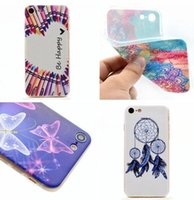 Wholesale Aztec Phone Cases - Aztec Henna White Paisley Flower TPU Soft Case For Samsung Galaxy Iphone 7 Plus Iphone7 Clear Crystal Mandala Phone Cover Skin