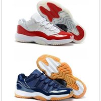 Wholesale Cheap Gum - 2016 Cheap air retro 11 navy gum basketball shoes Men Sport Shoes Varsity Red Mens Sneakers discount shoes size 8-13 free shipping