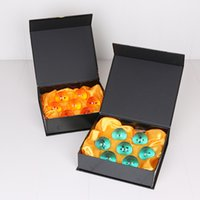 Wholesale Dragon Ball Pcs - 1Set 3.5CM New Dragon Ball 7 Stars Crystal Ball Set of 7 pcs Dragon Ball Z Balls Complete set blue and orange