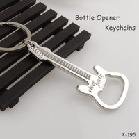 Wholesale Key Chain Guitar - Creative Guitar Keychains Bottle Opener Metal Zinc Alloy Multifunction Wine Beer Corkscrew Keyrings Key Chain Unisex Car Key Keychain