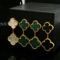 Wholesale Fshion Earring - Fshion japan South Korea 316L Stainless Steel 2 clover flowers Stud Earrings for women fine love earrings wholesale