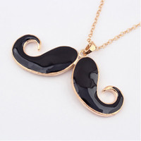 Wholesale mustache chains for sale - Group buy New Fashion Womens Bib Mustache Statement Chain Jewelry Pendant Necklace Pendant Necklaces Cute Design Sweater Short Chain Jewelry For Women