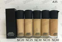 Wholesale Makeup Foundation Color - Factory Direct DHL Free Shipping New Makeup Face A35 Matchmaster Foundation Liquid SPF15!35ml