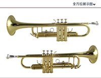 Wholesale Bach C Trumpet - Wholesale- Top silver plated bach trumpet bach LT180S-43 small brass trompeta professional high quality musical instrument