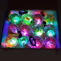 Hot Flashing Light Up Bolas De Bouncing De Cristal Alto Novedad Sensory Ball Kids Party Cheer Artículos