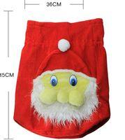 Wholesale Santa Claus Backpack - 2017 Xmas Backpack Cartoon Santa Claus Super Soft Sack Christmas Candy Bag drawstring top quality free shipping