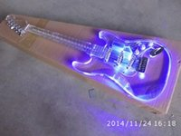 Wholesale Electric Guitar Plexiglass - HOT SELLING HIGH QUALITY FREE SHIPPING natural color chrome hardware st plexiglass body and neck electric guitar F-1354