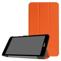Wholesale acer iconia tablet inch online - Tri Fold Ultra Slim PU Leather Case Cover for Acer Iconia One B1 inch Tablet Stylus Pen as free gift