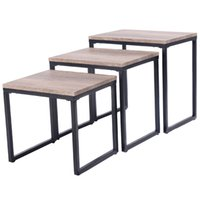 Wholesale Wood Living Room Furniture Sets - 3PC Stacking Nesting Coffee End Table Set Living Room Modern Home Furniture New