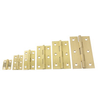 Wholesale Cabinet Hinges Wholesale - 2pcs 1inch 1.5inch 2inch 2.5inch 3inch 3.5inch Brass Butt Hings Closet Cabinet Box Furniture Rotated Hinges