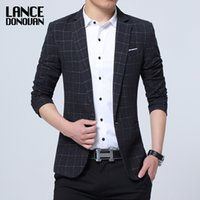 78% poliestere Slim Fit Leisure casual Giacca Blazer Uomini Slim fit Fit