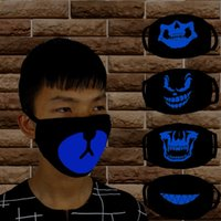 Wholesale halloween mask luminous - Luminous Half Face Mask Soft Dustproof Thicken Masks For Men And Women Riding Keep Warm Decoration Supplies Black 2 2ry BB