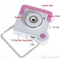Wholesale Toy Spy Cameras - 30pcs new mini spy camera spy camera detectors Toy Digital Rotatory Camera HD 480P Hidden spy camera Mini DV Video Recorder SPC