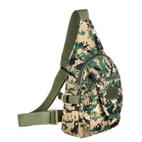 Wholesale Climbing Women Cloth - New Outdoor Chest Bag Unisex Climbing Bags Men Women Cycling Sports ACU Camouflage Packs Waterproof Oxford Cloth