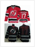Wholesale Nj Hockey Jersey - New Jersey Devils #17 Ilya Kovalchuk Black Ice Embroidered Hockey Jersey Ice Winter A Patch Jerseys NJ Sportswear Discount