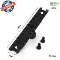 Wholesale Picatinny Carry Handle Rail - AloneFire Hunting accessories Picatinny Rail Optics Scope Mount 12 Slots Fits Airsoft AR-15 M4 Carry Handle-Y0015