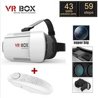 Wholesale 3d Active Shutter Wholesale - Google Games VR Porn PS4 Games 3D Movies Headset Google Cardboard VR For iPhone 6 3D Glasses Bluetooth Wireless Mouse Remote Control