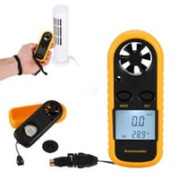 Wholesale Flow Gauges - GM816 1.4 Inch LCD Handheld Pocket Digital Anemometer Wind Speed Air Flow Meter & Temperature Gauge Thermometer