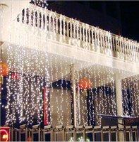 rideaux de cuisine pour noël achat en gros de-2016 New Christmas Kitchen Curtains Lumière 10 * 4M 1280LED Ultra Lumineux LED Chaîne Pour La Décoration De Vacances Blanc Chaud Blanc Avec Adaptateur