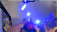 Wholesale 5in1 Blue Laser - High Quality 450nm 5in1 Super Blue Laser Pointers Flashlight adjustable focus burn match laser pointer with 5 caps