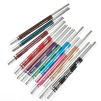 Wholesale Mineral Lip Color - High Quality 12 Colors Waterproof Lipliner Crayon Eye shadow Make up Mineral Lip liner Eye Liner Pen Pencil 12pcs Wholesale