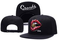 Wholesale Crooks Castles Black Hat - 2016 New Arrival Men's Hip Hop Crooks Castles Snapback Hat Brand Embroidery Logo Guns Print Sports Baseball Cap