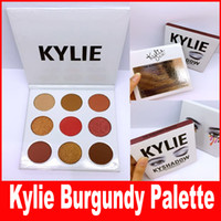 Wholesale Size New - NEW Kylie Jenners Burgundy Eyeshadow palette Kylie Jenner Cosmetics The Burgundy Eyeshadow Palette Kyshadow free shipping