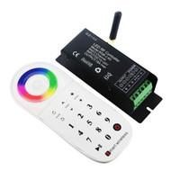 tela de zona venda por atacado-DC 12 V 24 V 2.4G Inteligente Controlador de Múltiplas Zonas para RGB LED Light Strip Touch Screen RF Controladores Remotos Sem Fio CE ROSH Dropshipping