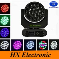 Wholesale Home Garden Products - Free shipping zoom Big Bee Eye hot products 19*15W 260W RGBW led beam moving head bee eye stage light for dj equipment