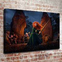 Wholesale Merida Frames - (No frame) Brave merida HD Canvas print Wall Art Oil Painting Pictures Home Decor Bedroom living room kitchen Decoration