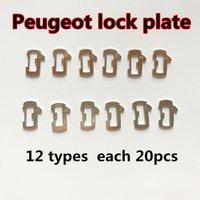 reparacion de llaves de coche peugeot al por mayor-Buena calidad para Peugeot 12 tipos 240 unids auto bloqueo de la cerradura del coche accesorios de la reparación del coche placa de la cerradura de Reed para Peugeot Citroen