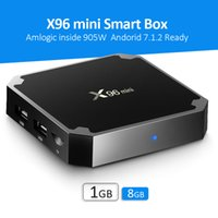 Wholesale Mini Tv Box Quad - New X96 Mini TV BOX Quad Core Amlogic S905W Smart Box 1GB 8GB Android 7.1 Full Loaded Media Player Cheaper than X96