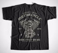 Wholesale Rocker T Shirts - T-Shirt Custom Engine S-XXXL Motorrad Rocker Mechaniker Chopper Harley Biker