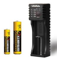 cargadores de baterias recargables nimh al por mayor-LiitoKala Li-ion NiMH Liepo4 Cargador de batería USB para 10440/17670/18490/16340 (RCR123) / 14500/18350/18650 batería recargable