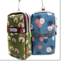Wholesale Wrist Pouches - Wholesale-2015 New Arrival Grils Wrist Bag Mini Handbags Clouth Bags For Women High Quality Nylon Shoulder Bags small flowers Women Bag