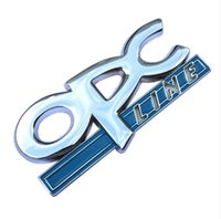 Wholesale C B G - 3D Metal OPC LINE Emblem Car Side Tail Badge Sticker for OPEL Zafira b Corsa d Insignia Mokka Regal Astra g h Vectra c