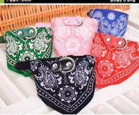 Wholesale Spring Color Scarves - Dog Collars Adjustable Pet Dog Cat Bandana Scarf Collar pet Triangle towel Neckerchief pet Saliva towel pet dog ties Mix Colors 50pcs 45*2CM