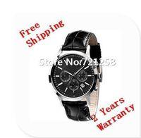 Wholesale Japan Movement Stainless Steel Black - free hk shipping _Absolute luxury New AR2447 2447 Quartz Chronograph mens Watch Japan Movement Gents Wristwatch +original box