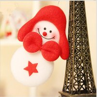 Wholesale Cute Snowman Plush - Wholesale- 1PC Cute Snowman Plush Toy Christmas Gift For Kids Children plush toys