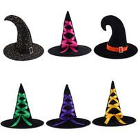 maquillage accessoires de fête achat en gros de-Chapeau de halloween accessoires de danse de maquillage bars habiller chapeau de citrouille chapeau de sorcière chapeau de sorcière pour la fête