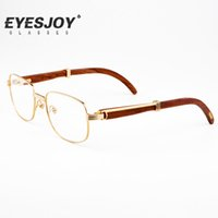 Wholesale Retro Square Eyeglasses - Retro Myopia Glasses High Quality Metal Frames Mens Glasses Womens Optical Glasses with Original Boxes CT7381148
