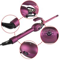 Compra Tubi Di Ferro-Bigodino Bigodino Bigodino 9mm Super Piccolo Mini Ceramica Curling Iron Curling Bacchetta Pera Hair Styling Tools