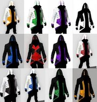 Wholesale assassins creed white jacket - 12 Colors Hot Sale Assassins Creed 3 III Conner Kenway Hoodie Coat Jacket Cosplay Costume